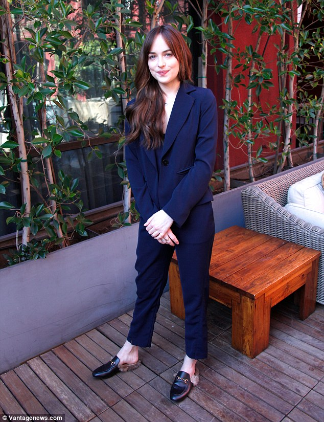 The furry footwear was first sighted at the Gucci Spring/Summer 2016 runway show. ActressDakota Johnson pictured wearing the slippers earlier this year