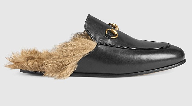 The shoe has a kangaroo fur lining, which has been condemned by animal welfare groups