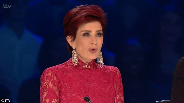 In the hot seat: Sharon Osbourne repeatedly faltered during the series' first X Factor live show on Saturday night