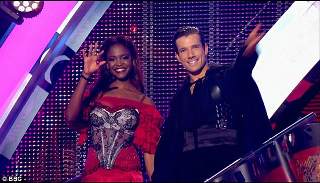 Dreamy: Next to take to the floor was Hollyoaks star Danny Mac, who dominated the studio floor as Zorro in a dramatic Paso Doble