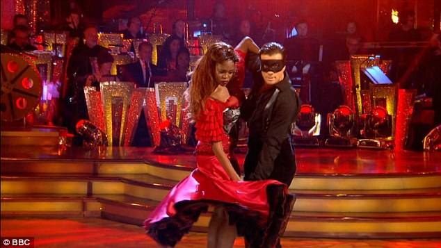 Sensational: The actor displayed an impressive range of complex spin sequences and impressive flamenco arms with partner Oti Mabuse