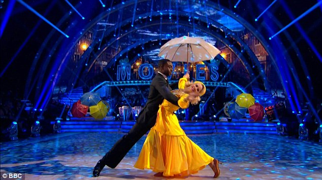 No storms here: Ore Oduba became very emotional after his American Smooth with Joanne Clifton to Singin In The Rain