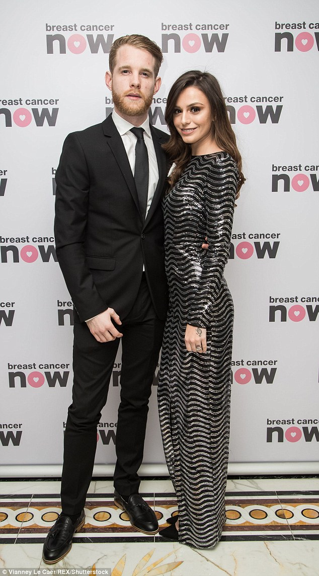 Happy! Cher Lloyd, 23, was the picture of class in a black and silver sequinned floor length gown as she posed elegantly at Breast Cancer Now's Annual Pink Ribbon Ball on Saturday with husband Craig Monk
