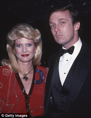 Donald Trump failed to express any remorse for cheating on his first wife Ivana (left) in a 1994 interview, saying that he may have continued his affair with Marla Maples