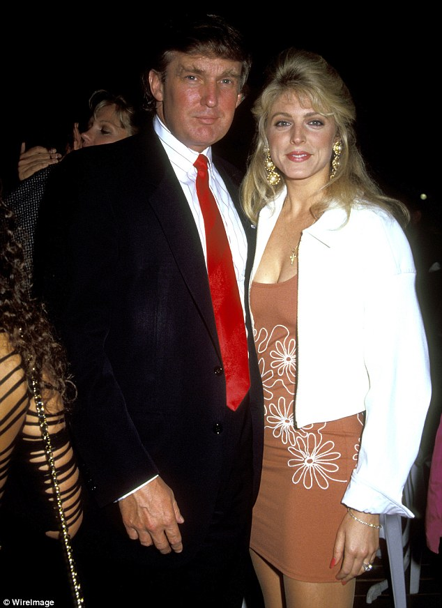 Maples (right) went on to become Trump's second wife. In the 1994 interview, Trump also made light of the two women's confrontation and failed to take responsibility for his behavior