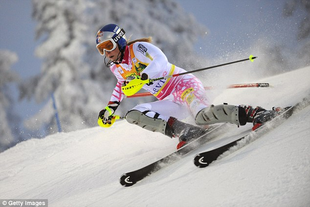 Talented: The American athlete has won four World Cup championships in alpine ski racing as well as a gold medal at the Olympics