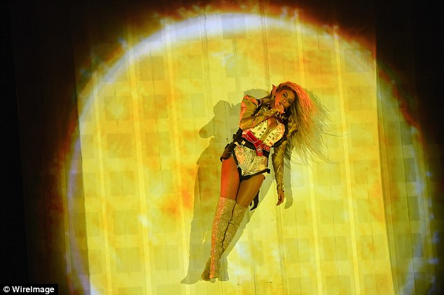 Round and round: Beyonce delivered a dazzling show