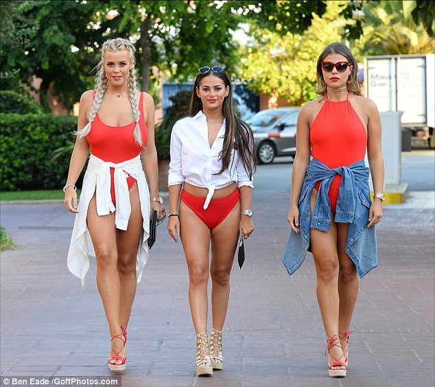 Seeing red: The pair were two of Megan Mckenna¿s oldest friends, before they got embroiled in bitter spat after Chloe (L) went behind Megan¿s back and hung out with her enemies Lydia Bright and Chloe Lewis (R)
