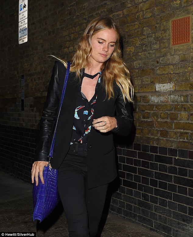 Rock-n-roll style: The 27-year-old cut a stylish figure as she was spotted at the Chiltern Firehouse, where she was hoping to turn heads