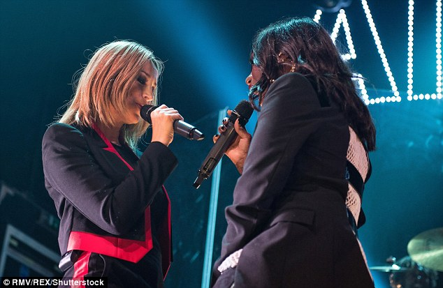 Fashion forward: Nicole and Shaznay gave it their all on stage