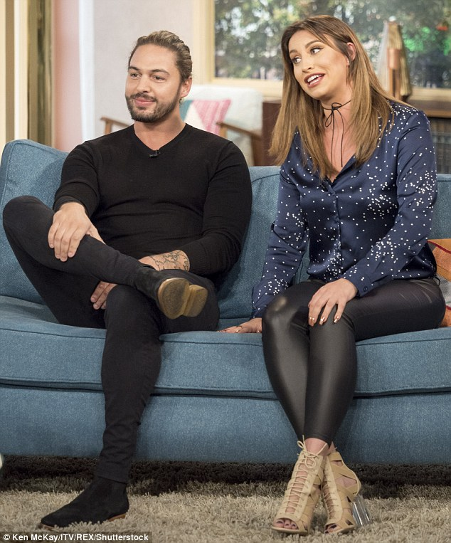 Bonding: The hunk made an appearance on the ITV show on Friday morning, alongside Ferne McCann who recently underwent the same procedure