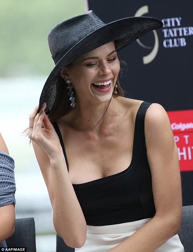 Busting out! The New Zealand-born beauty, 24, was attending Stakes Day to judge the Fashion Chute competition