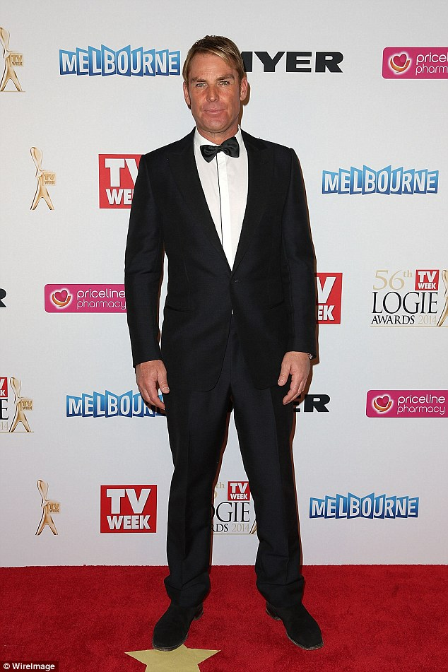 Lovers to friends! Ladies' man and cricketer Shane Warne has revealed the secret behind his good relationships with ex-partners. Pictured in April 2014