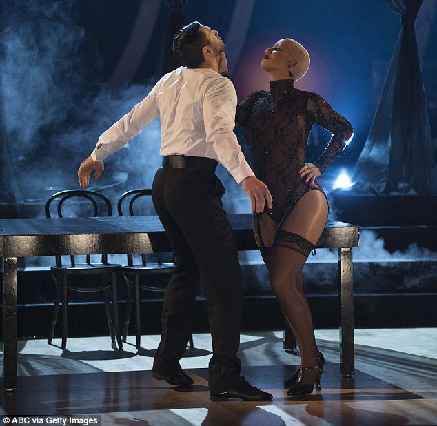 Sexy stuff: On the last episode, Amber Rose came back from her body-shaming scandal on Dancing With The Stars for an even sexier routine that she predicted would be 'too hot for TV'