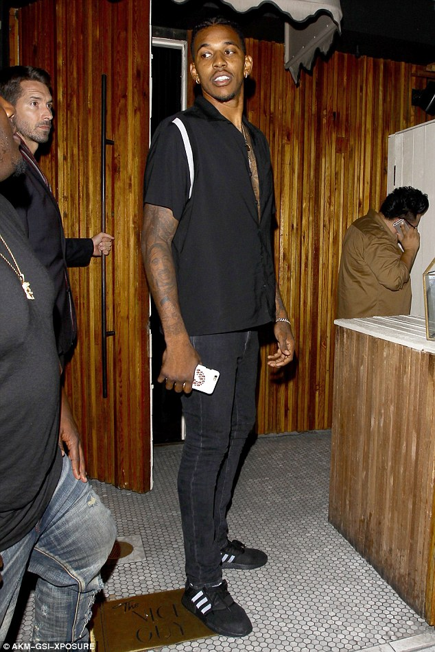 There he is! Nick Young was spotted with Paloma at The Nice Guy in September