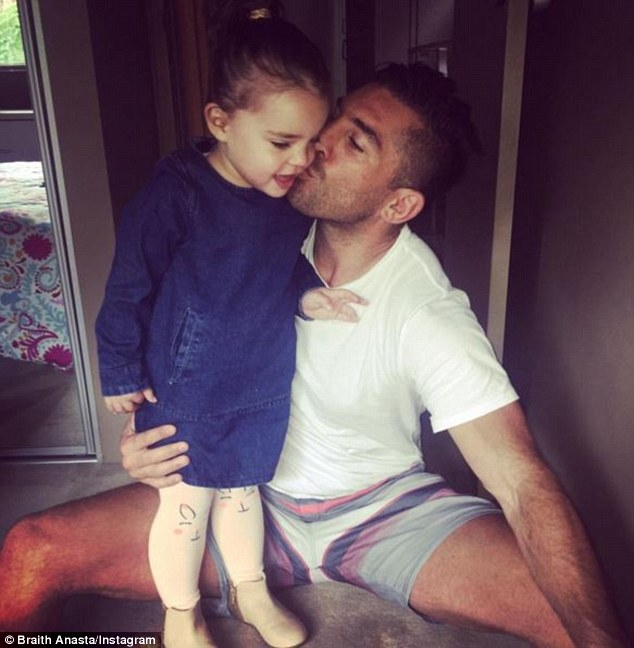 'I'll be proud of her no matter what': Last month, Braith told Daily Mail Australia he was spending Father's Day with his tiny tot and spoke about how she is growing up in the public eye