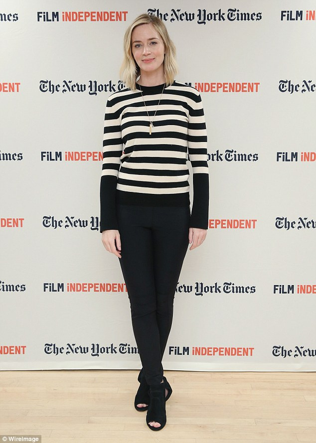 New face:Emily Blunt was recruited to play Skylar, a role originally played by Minnie Driver in the film
