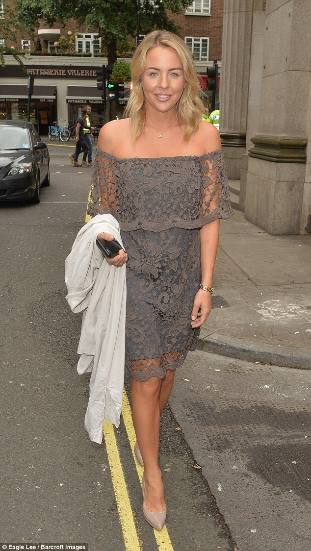 Moving on: Lydia Bright was shrugging off the drama with her ex-boyfriend James 'Arg Argent, putting her best foot forward as she ventured out in London on Friday ahead of TOWIE's grand return later this weekend