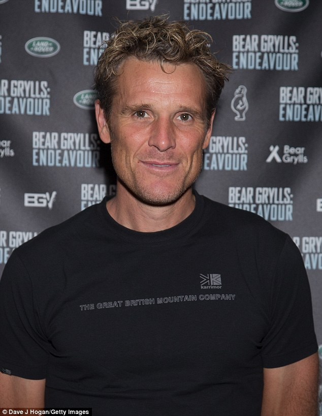 Famous face: Other guests included James Cracknell and his family, who was equally casual