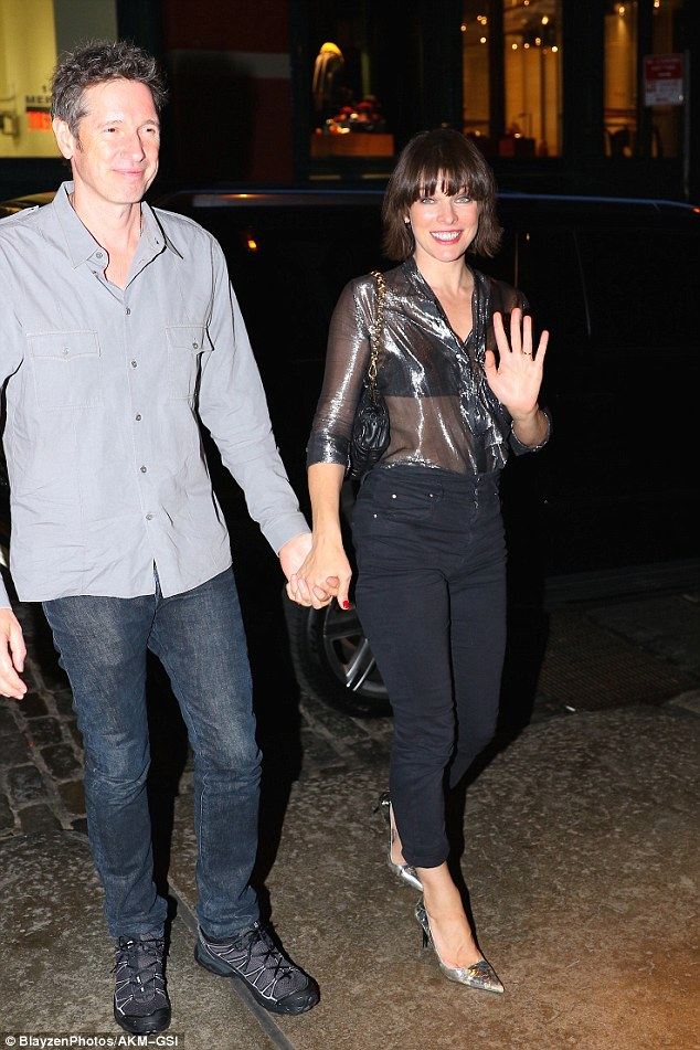 Date night! The actress was also spotted hand-in-hand with her husband Paul W.S. Anderson in New York that same day