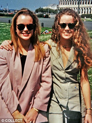 Amanda, pictured with her sister, has previously spoken about their relationship with her estranged father, who 'was hardly ever there'