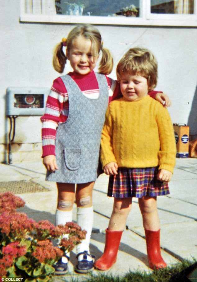 Older sister Amanda, left, scene in happy times as a child with her sister in Hampshire