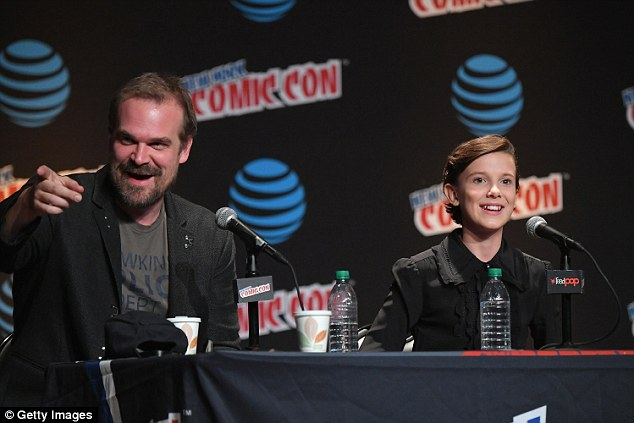 They'll be back! Stranger Things stars David Harbour and Millie Bobby Brown answered fan questions at New York Comic Con on Friday, revealing tidbits about season two