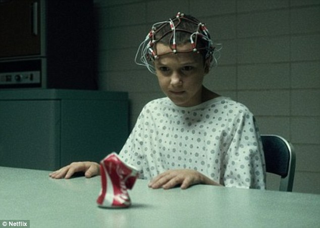 The series revolves around the mysterious Eleven, played by Millie, who has kinetic powers and who opened the door to the shadow world of Upside Down
