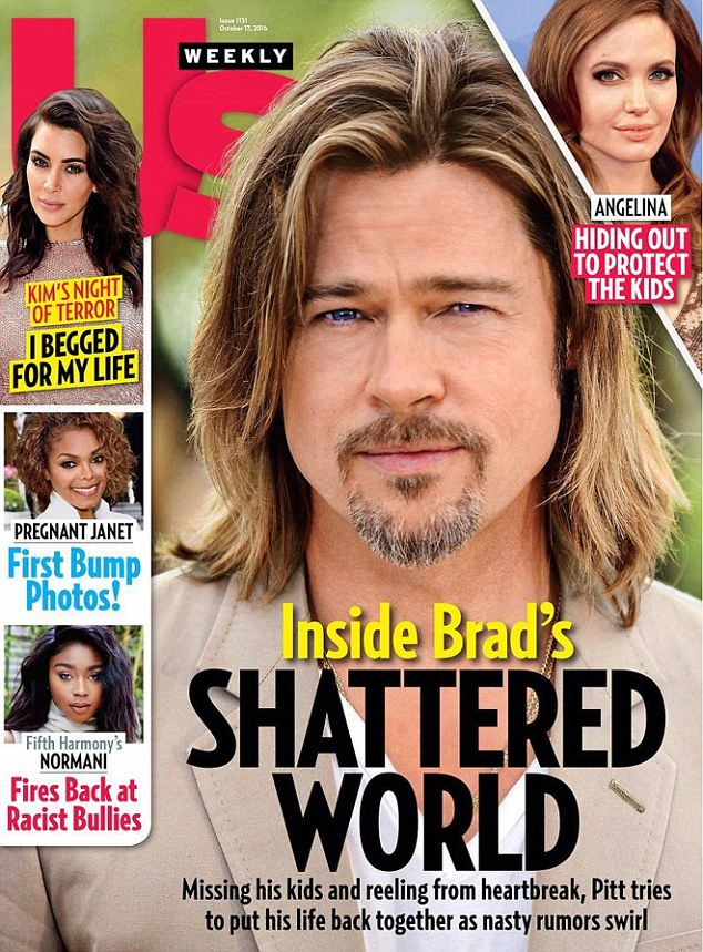 Angry? The magazine added that Jolie is 'seething.' It was claimed something he did made her 'very pissed off'