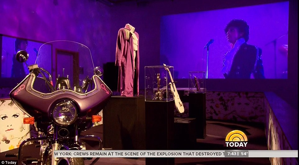 Purple Rain: NBC's Today gave viewers a look at a room showing memorabilia