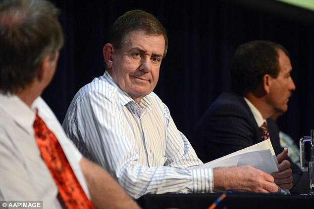 Former Speaker Peter Slipper (pictured) enjoyed $8,557.16 in free flights in the second half of 2014