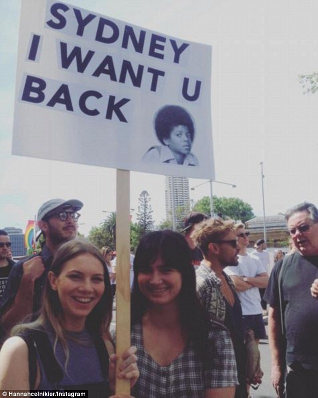 Crowds of people have taken over the city, holding signs bearing hilarious messages
