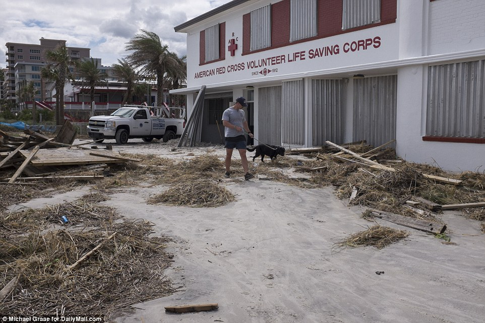 Back to normal: In many places along the Southeast coast, the damage consisted mostly of flooded streets, blown-down signs and awnings, flattened trees and power outages