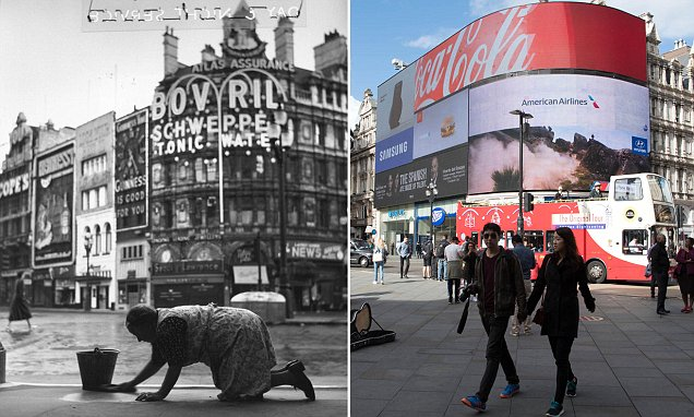 Photographer recreates historical pictures of Soho to capture how the area has changed