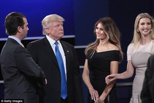 Trump and his wife had been married for almost a year when the Republican candidate lampooned her changing appearance. They are pictured last month