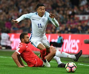 Jesse Lingard was tidywithout the wow factor on England debut... his disciplined display