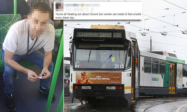 Woman shames 'creep who hit on young Asian women' on a Melbourne tram