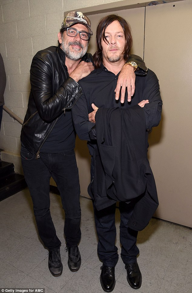 Heavy hitters: The Walking Dead's Jeffrey Dean Morgan, 50, and Norman Reedus, 47, were at New York Comic-Con on Saturday at The Theater at Madison Square Garden