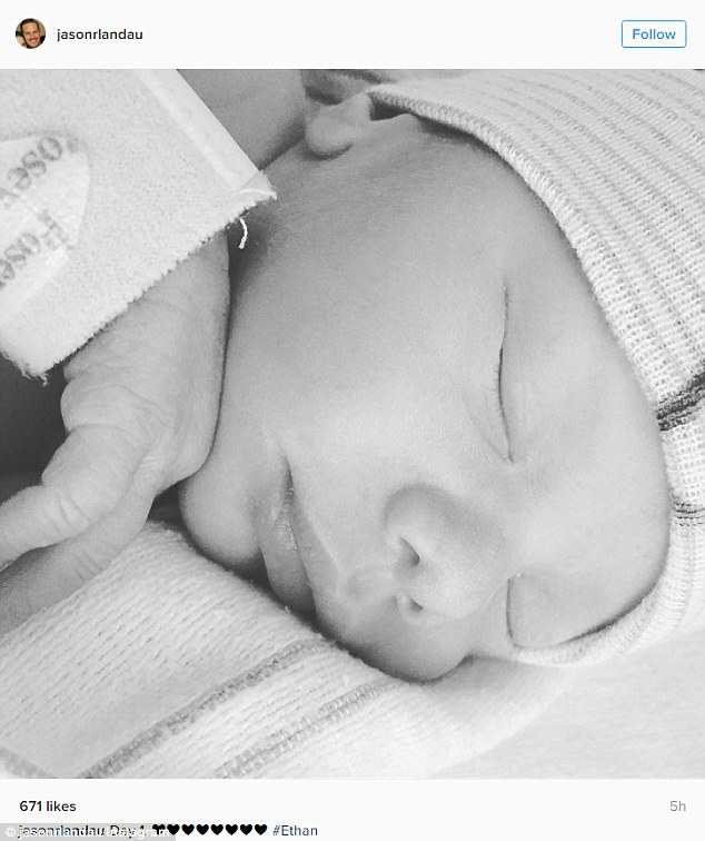 '#Ethan': On Saturday, Landau also shared a photo of baby Ethan, who was fast asleep