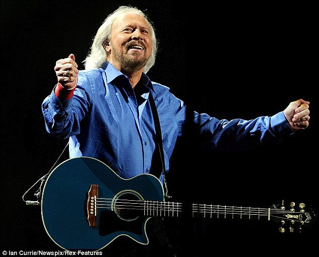 Making a comeback: The last surviving Bee Gees member Barry Gibb has revealed he will be touring Australia in April next year to promote his new solo album In The Now