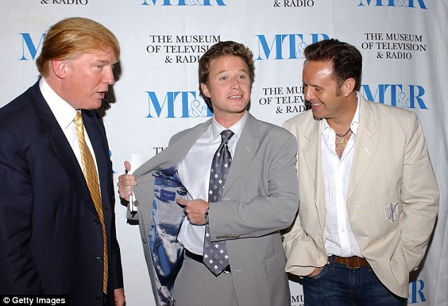 'Bush (pictured with Donald Trump in 2004) can't stay on a show that's primary viewing audience is women when he has now been caught in a conversation that is offensive to women everywhere,' the source said