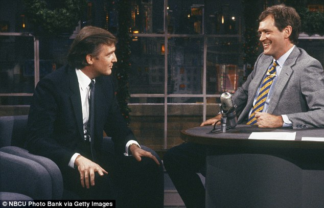 'Perfect guest': During his 33 years as the host of The Late Show, Letterman would often invite Trump to appear on the show because he could take a joke and was, in his words, 'the perfect guest.' This screenshot is from Trump's appearance on the show in December 1987