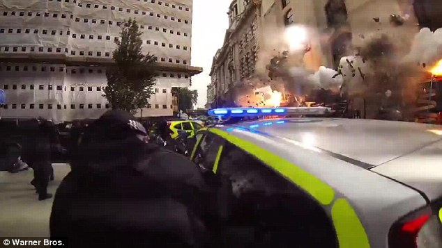 Boom! There's an dramatic explosion in a building
