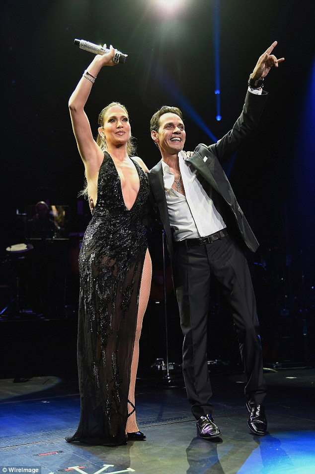 Reuniting: Jennifer is also working on a new Spanish-language album, which will be produced by her ex-husband Marc Anthony. She joined him onstage in New York last month