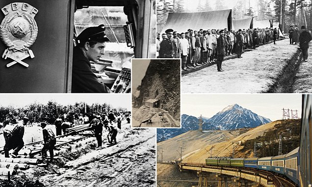 100 years of the Trans-Siberian railway: Fascinating pictures chart the growth of the