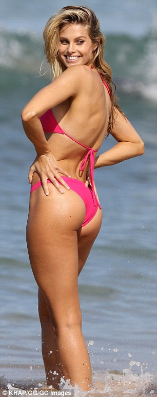 That's cheeky! The Insta-famous model was also not shy of displaying her very pert derrière for the photographer