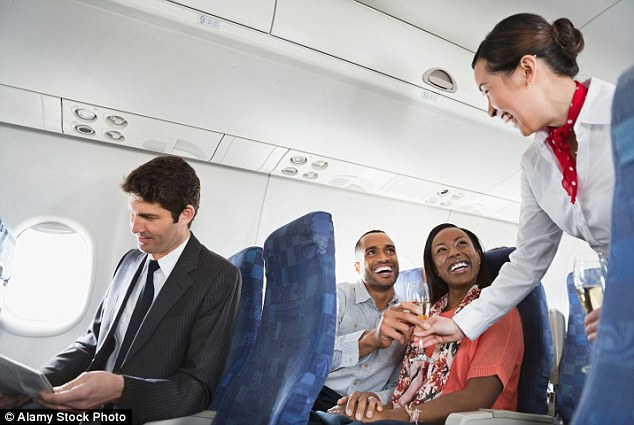 MailOnline Travel quizzed an air hostess from an American airline who admits that one or two tipples can actually make passengers 'more polite, friendly and mellow'