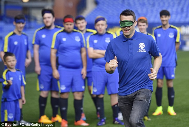 The attacking right back recently took part in an Everton in the Community Showcase