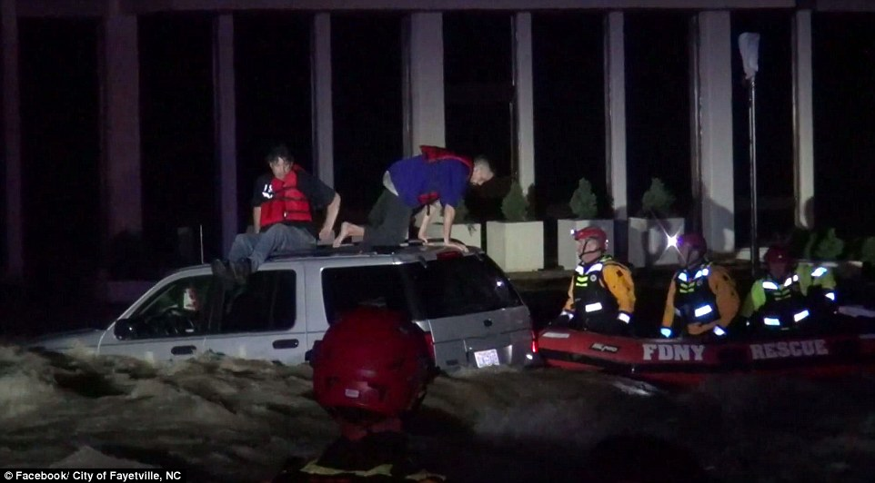 Crews from the NYPD and New York City Fire Department (FDNY) were able to successfully rescue the three occupants