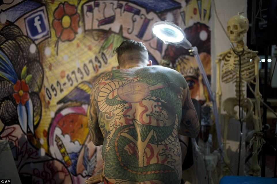 Around 140 tattoo artists are participating in the event, which attracts thousands of visitors